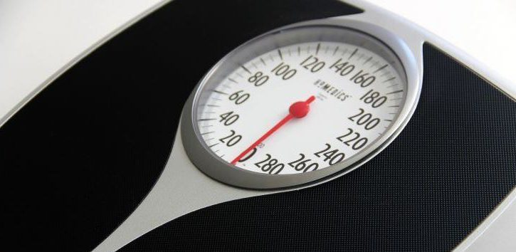 Photo of a spring-action bathroom scale