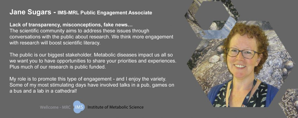Image and short description of the work of Jane Sugars - a member of IMS-MRL staff