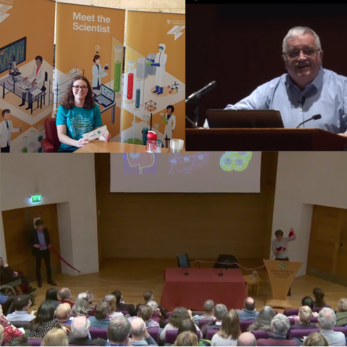 Images from Cambridge Science Festival talks and Q and A sessions