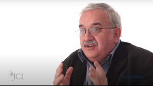 Screenshot of Professor Sir Stephen O'Rahilly in conversation with JCI